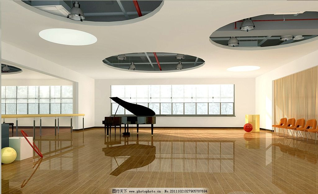 舞蹈教室欧式吊顶
