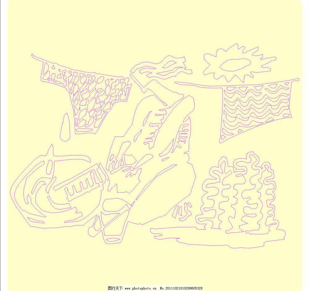 矢量书报刊图 插图 大自然 底纹 动物 妇女 花边 礼花 晾衣服图片