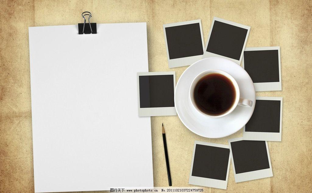 咖啡铅笔手绘图