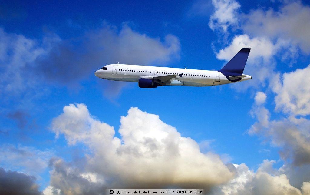 飞机 蓝天 白云 客机 天空 起飞 飞翔 交通工具 现代科技 汽车 摄影