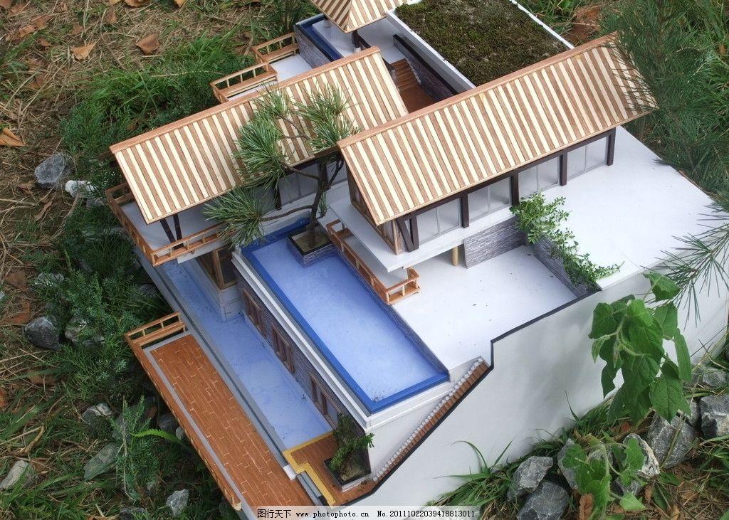 模型制作 流水别墅 建筑景观 手工制作 精品模型 局部