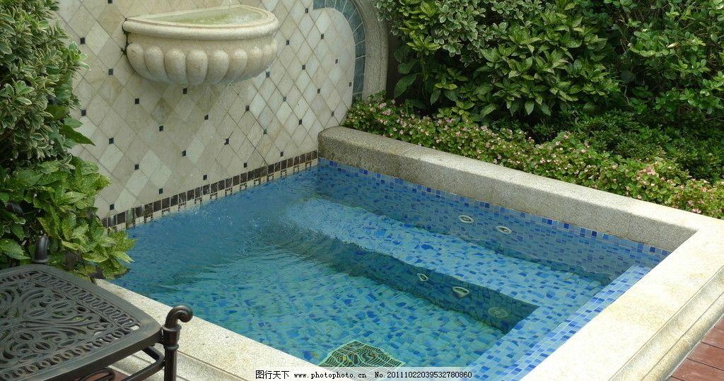 水池 庭院 绿化 豪宅 景观 进口花岗岩 别墅 休闲 设计 摄影 jpg 植物
