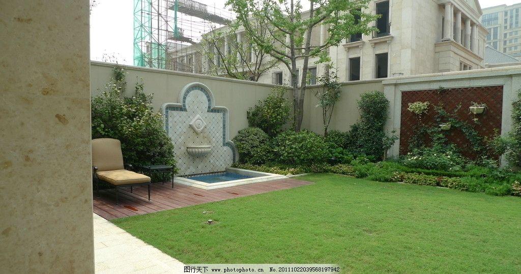 庭院绿化 豪宅 景观 进口花岗岩 别墅 休闲 摄影 植物 灌木