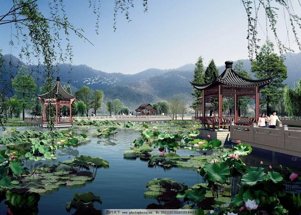 校园生态建筑景观_环境设计 景观设计  生态公园景观效果图 园林花镜效果图 建筑效果图