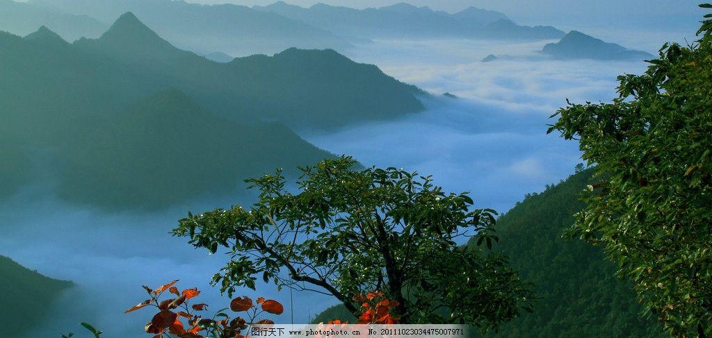 云海 镇安 镇安风光 山村景象 云雾 仙境 飘零 山水风景 自然景观