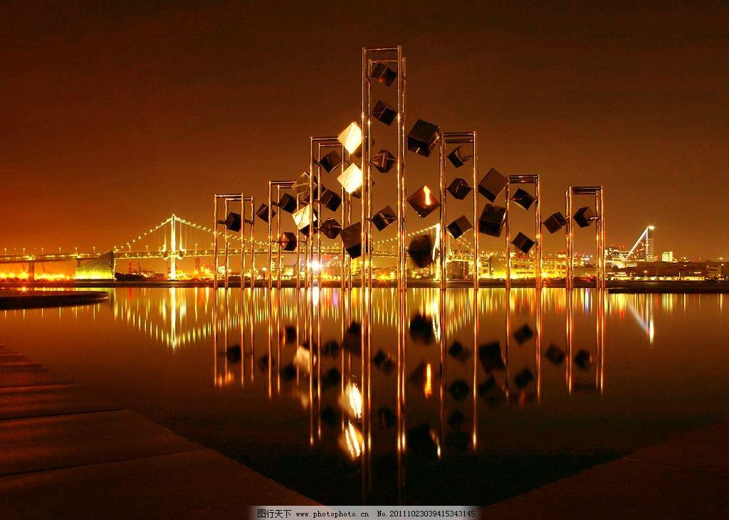 水上城市夜景