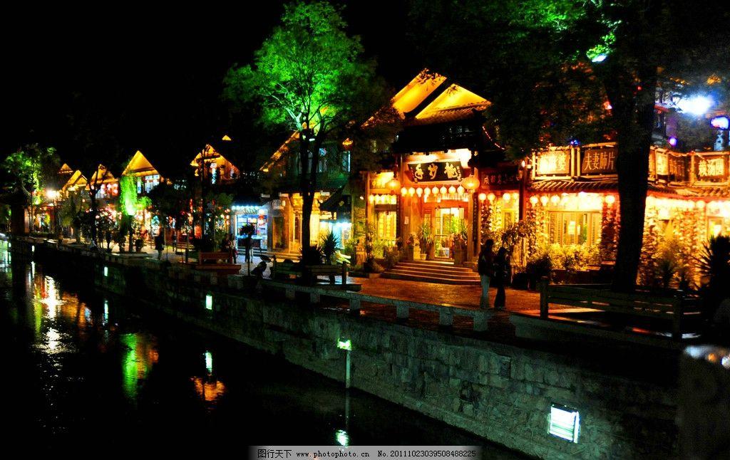 夜晚的街景图片