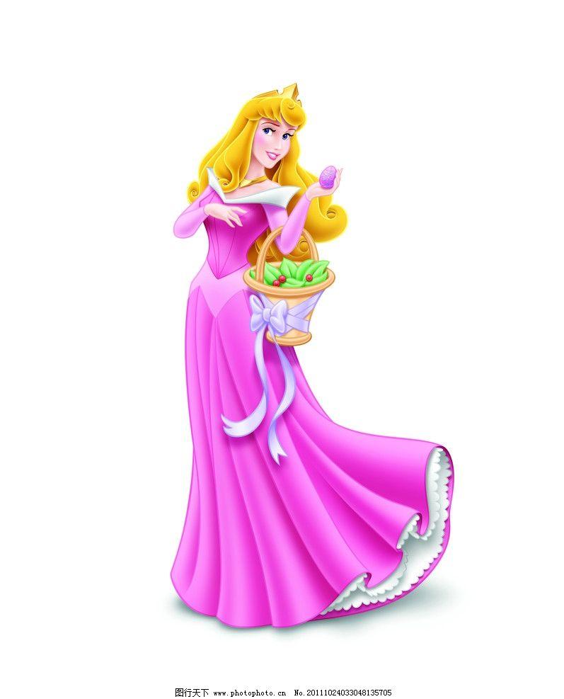 迪士尼公主图片,裙子 黄色 花篮 可爱 漂亮 粉色-图行