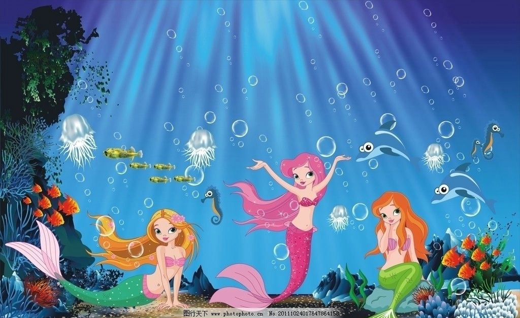 海底卡通世界图片