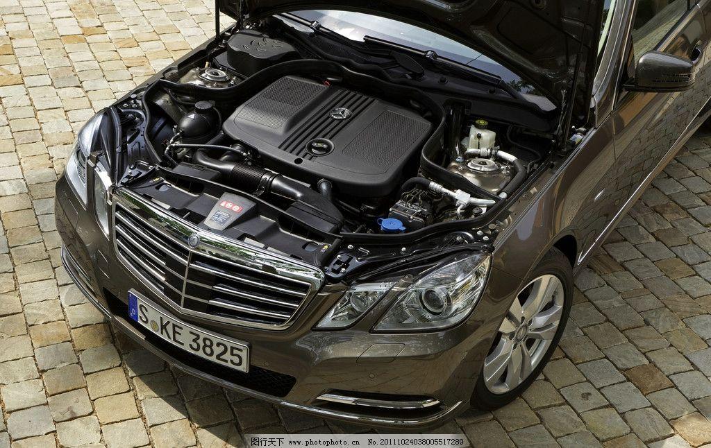 奔驰轿车发动机零件 发动机 零件 引擎 机械 前车盖 奔驰 豪华 汽车