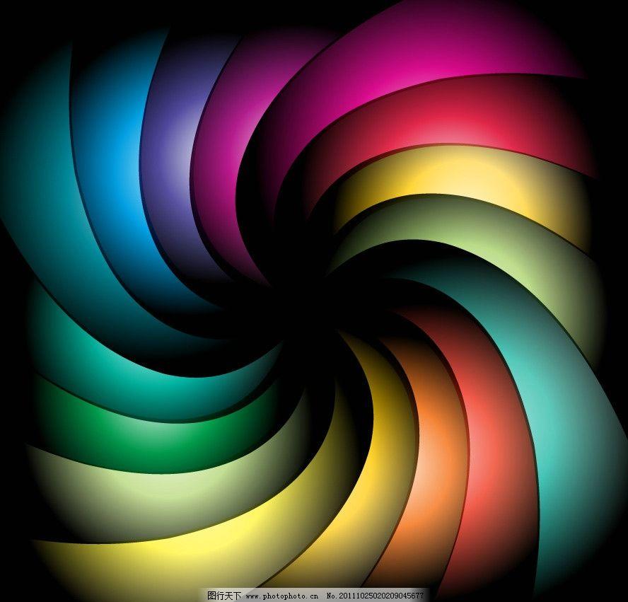 七彩动感旋转螺旋媒介背景图片