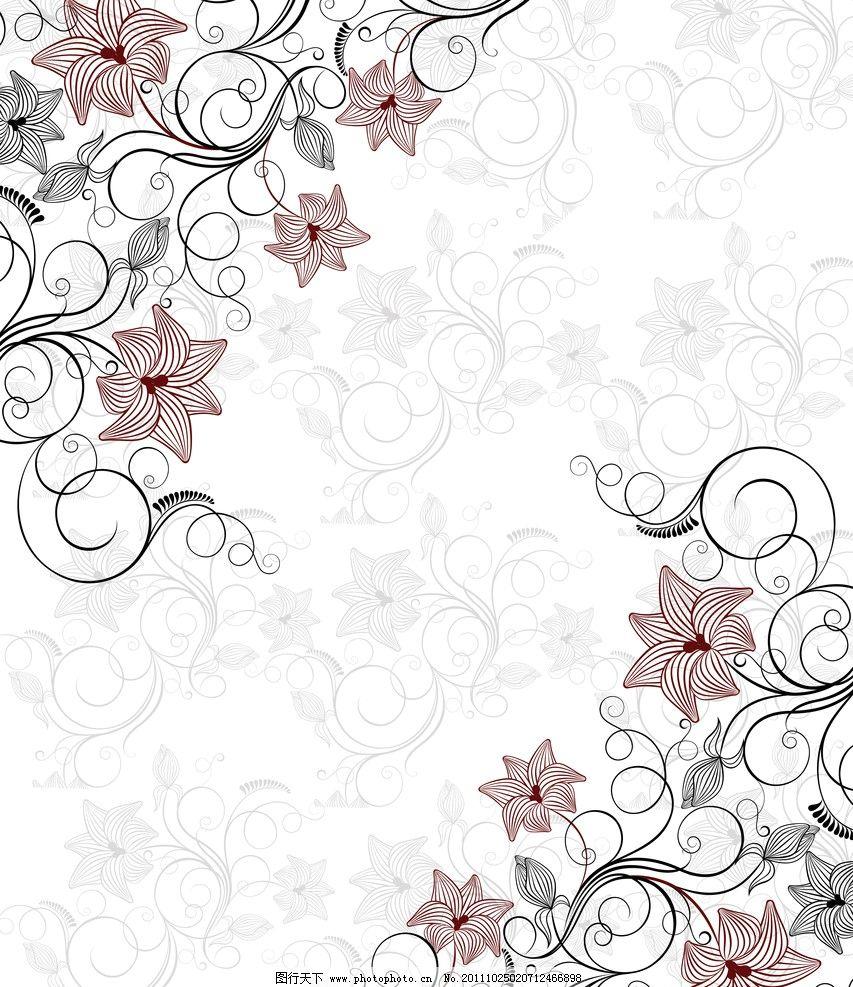 欧式古典对角花纹矢量图
