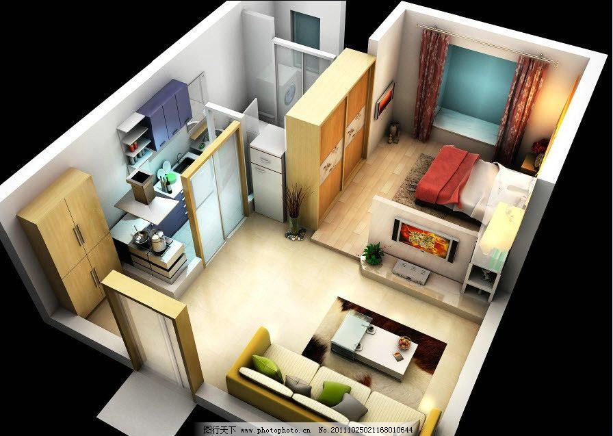 2点透视沙发画法