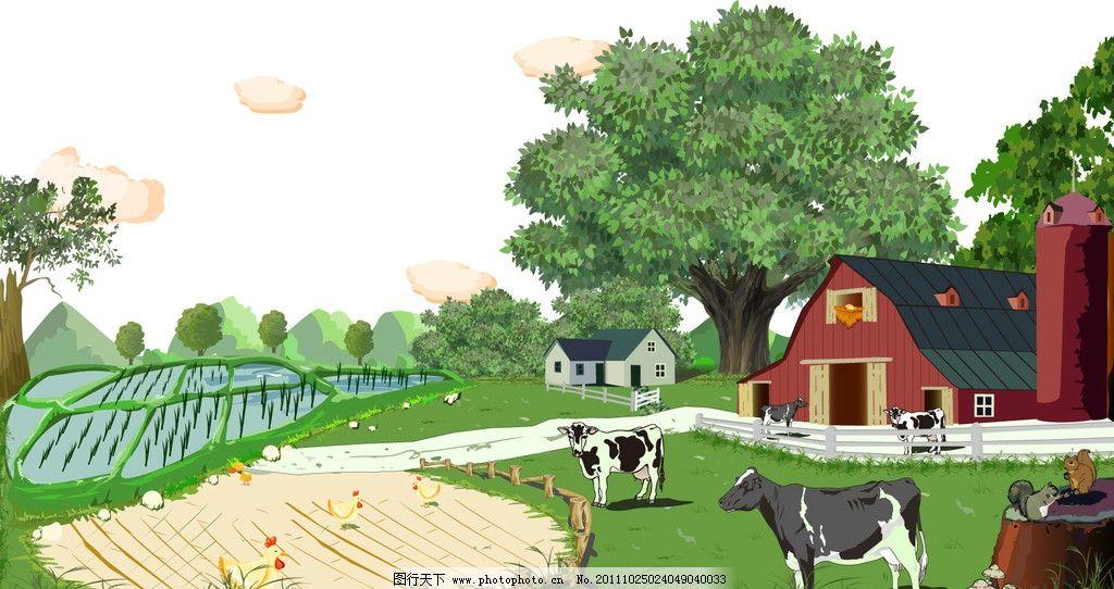 大树与蘑菇简笔画