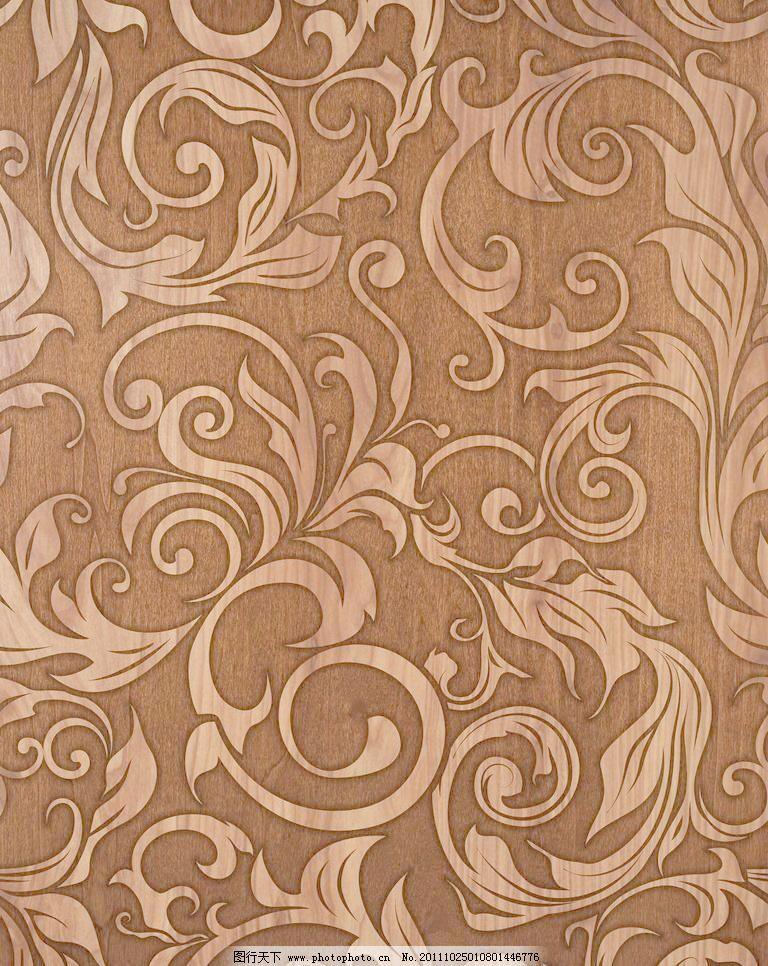欧式花纹木板 木纹图片