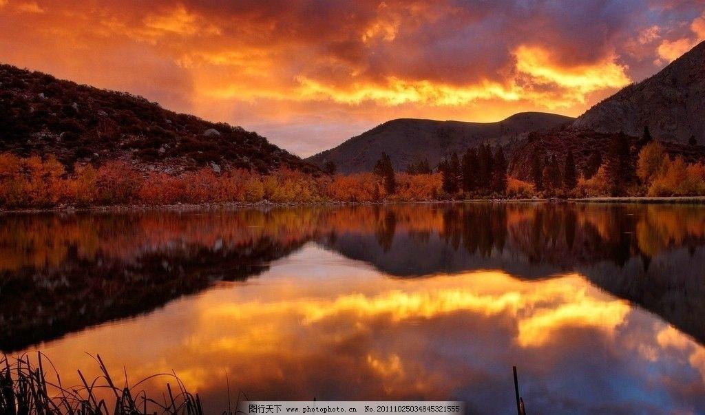 唯美倒影图片_自然风景_自然景观_图行天下图库