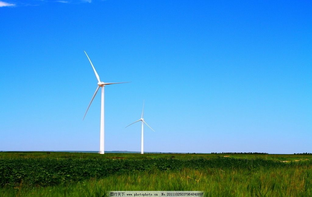 风力发电机 风机 风车 新能源 摄影图片
