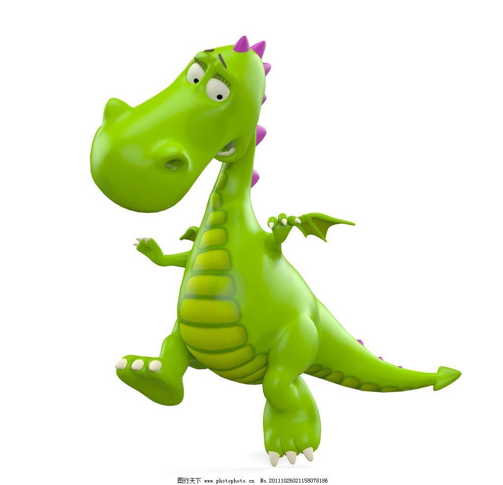 小恐龙 绿色的小龙 3d恐龙 恐龙 3d设计 3d设计 设计 300dpi jpg