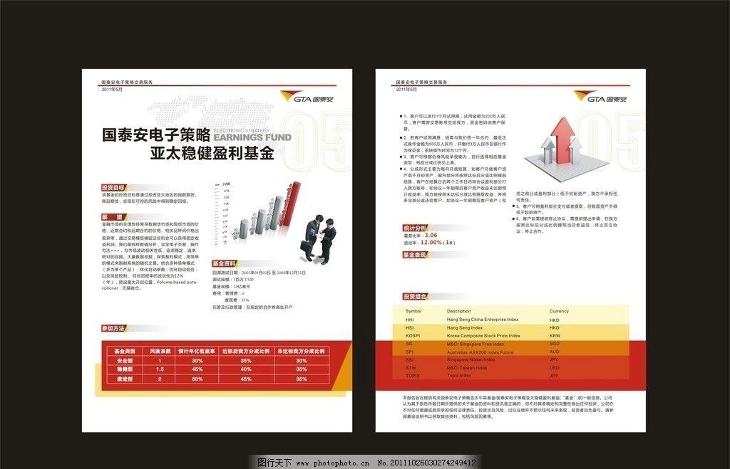 电子策略交易宣传单 彩页设计 经典排版 宣传彩页 单张 画册 金融
