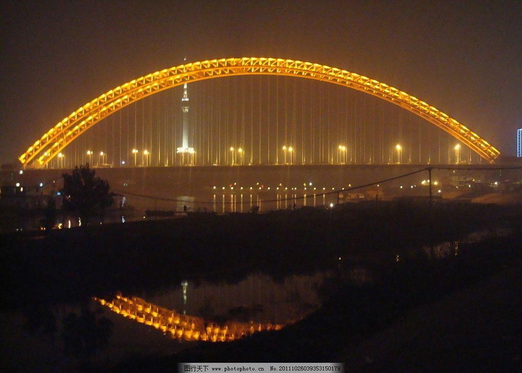 晴川桥夜景 电视塔 霓虹灯 灯光效果 长江 汉江 武汉 旅游 摄影