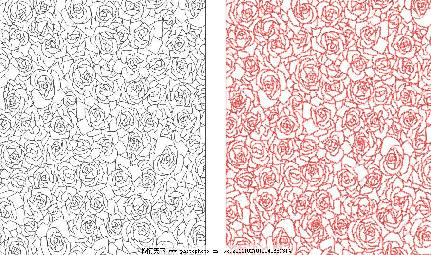 玫瑰 艺术玻璃 雕刻 玫瑰花 玫瑰线条 现代风格 刻绘图案 刻绘 线图
