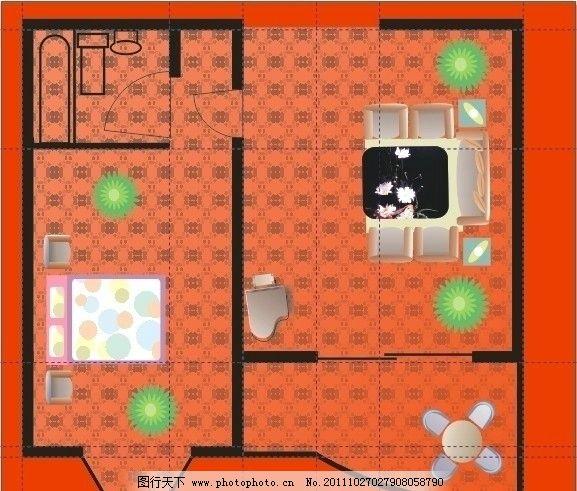 家居平面图 家居 平面图 家居设计 室内设计 建筑家居 矢量 cdr
