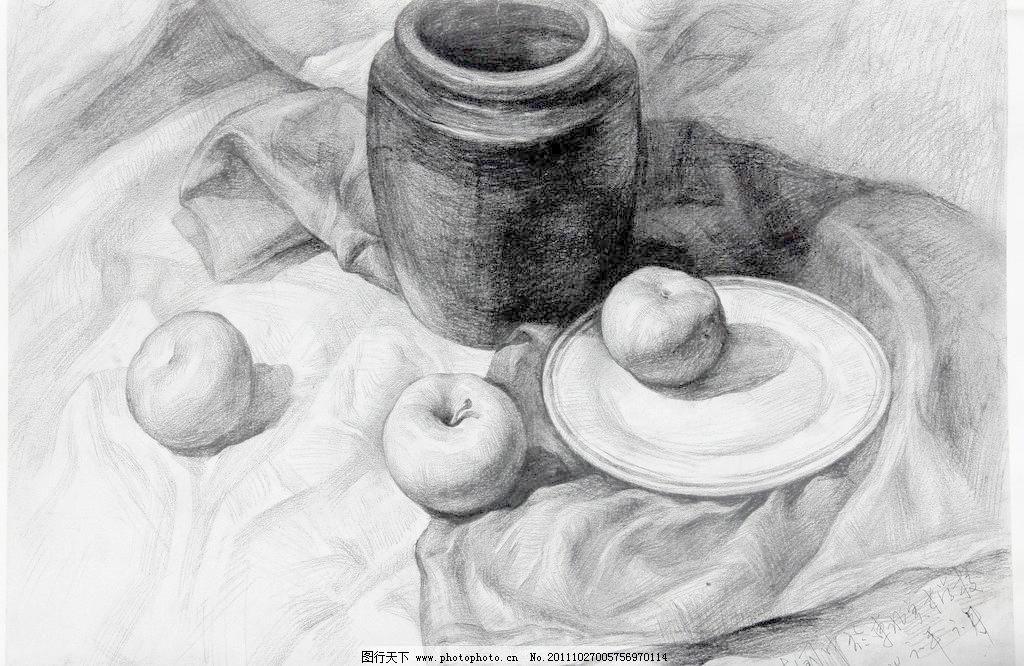 水果静物素描步骤图片