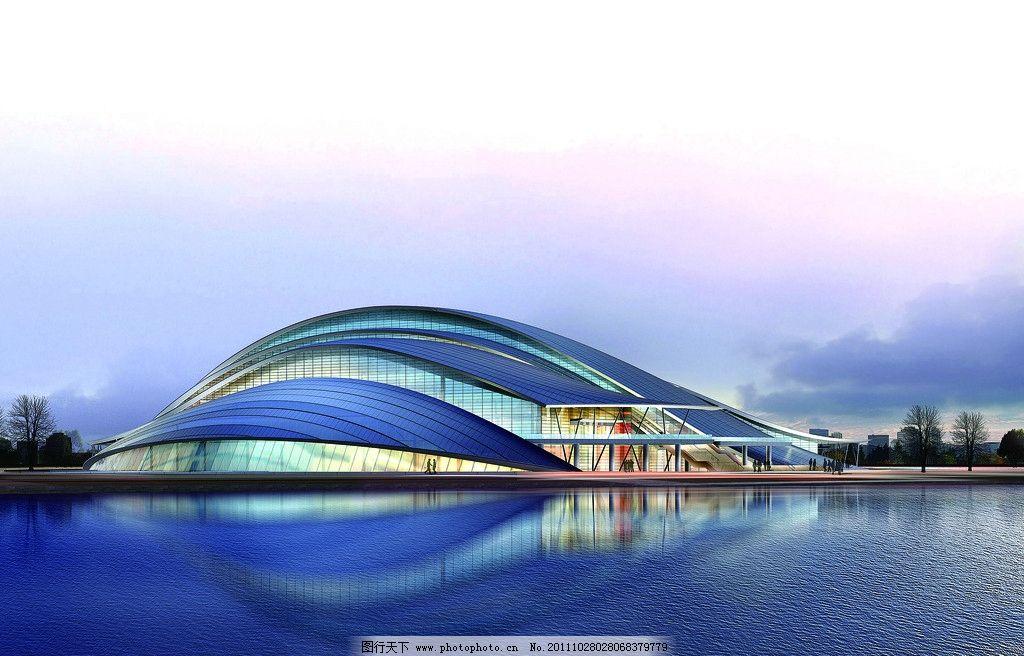 合肥大剧院 水上剧院 天鹅湖 建筑风景 建筑设计 环境设计 设计 300