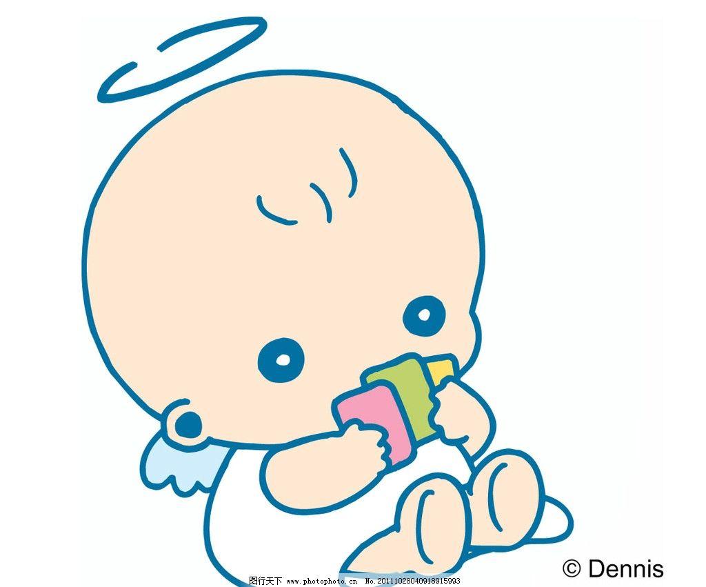 婴儿玩卡片        可爱宝贝 儿童幼儿 矢量人物 矢量 eps