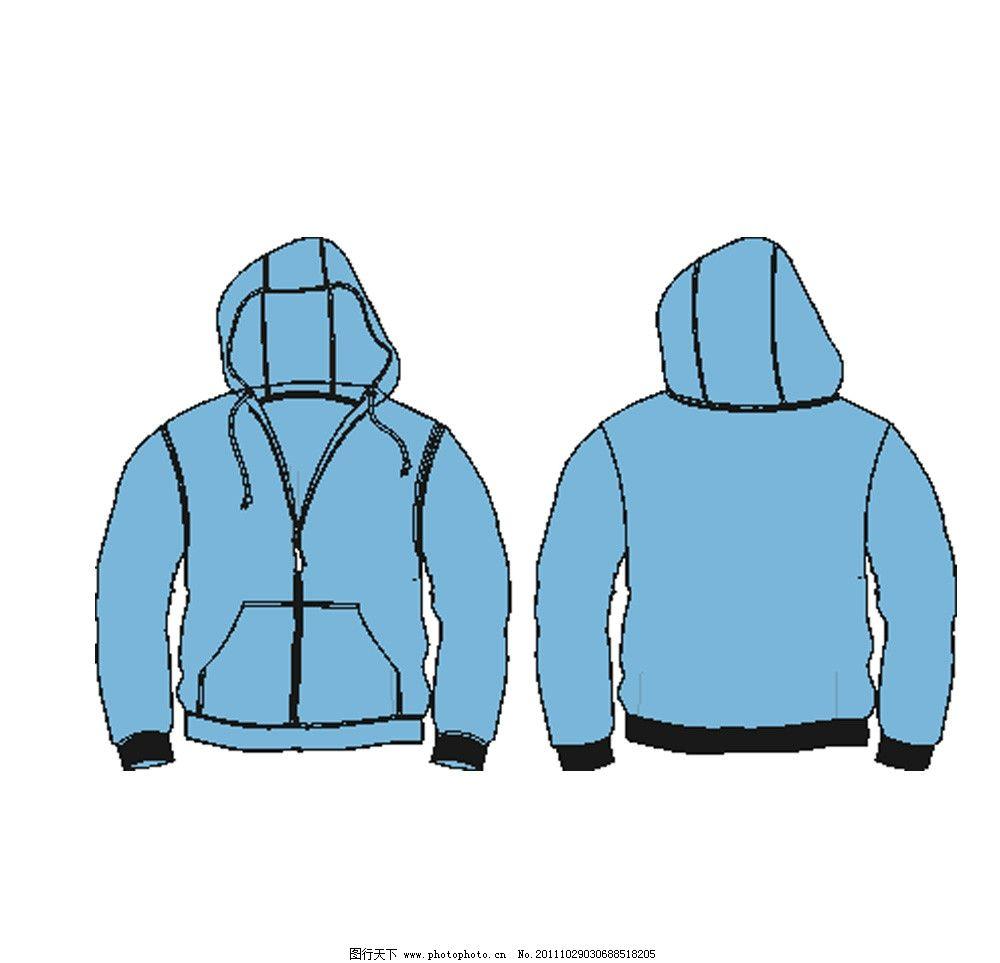 卫衣 衣服款式图 卫衣款式图 带帽卫衣 带帽衣服 服装设计 广告设计