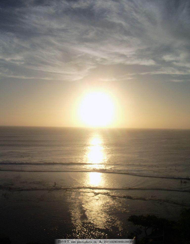 海边日落 巴厘岛 摄影