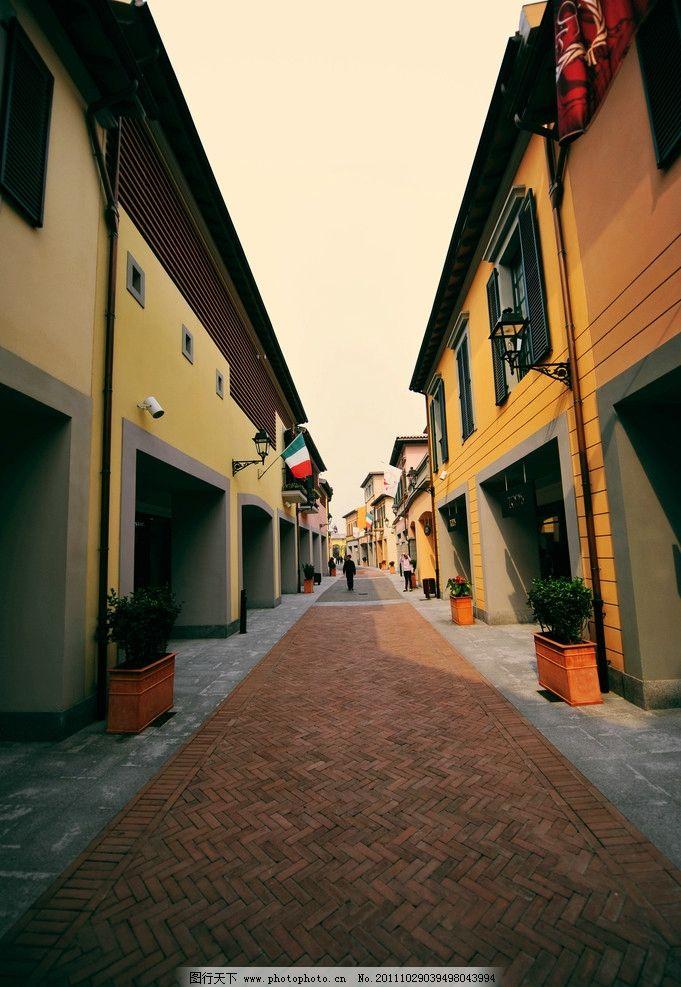 欧式街道 欧式 西方 建筑