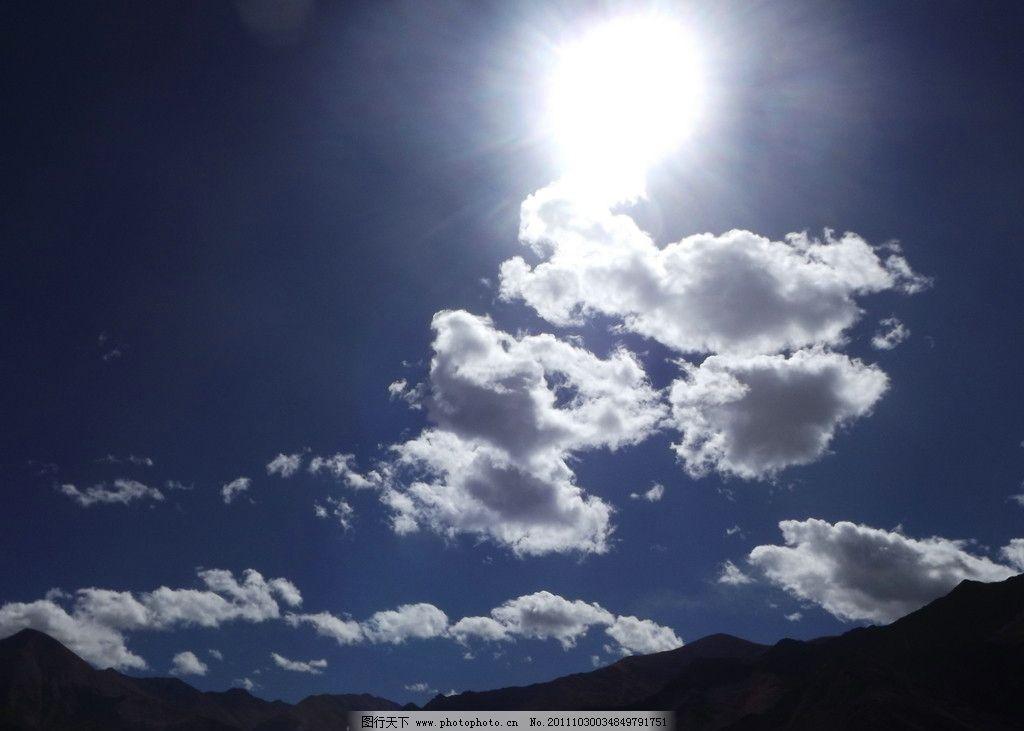 太阳 云彩 云朵 蓝天 下午太阳 布达拉宫 jpj 自然风景 自然景观 摄影