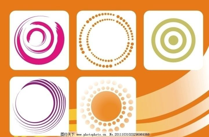 圆圈圆框底纹 花纹 花边 背景底纹 可爱圆圈 装饰边框 花纹花边 底纹