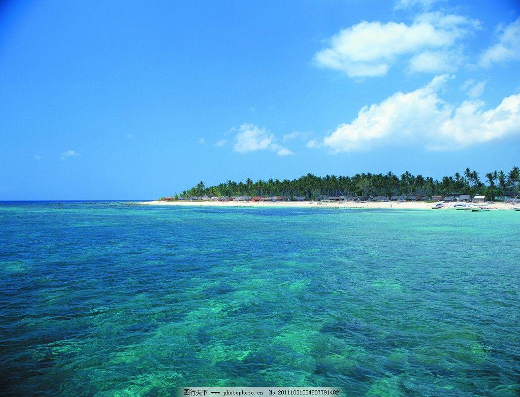 大海蓝天 湖泊 湖水 白云 风光 风景 自然 天然 岛屿 海洋