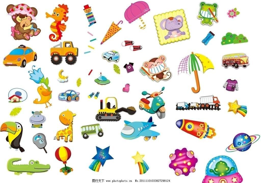 卡通玩具 小熊 动物 可爱 衣服 鞋子 卡通交通工具 小汽车 玩具飞机