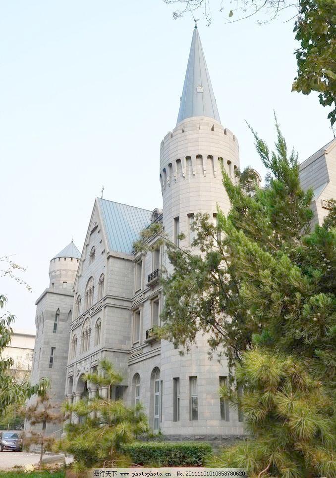 欧式城堡侧影图片