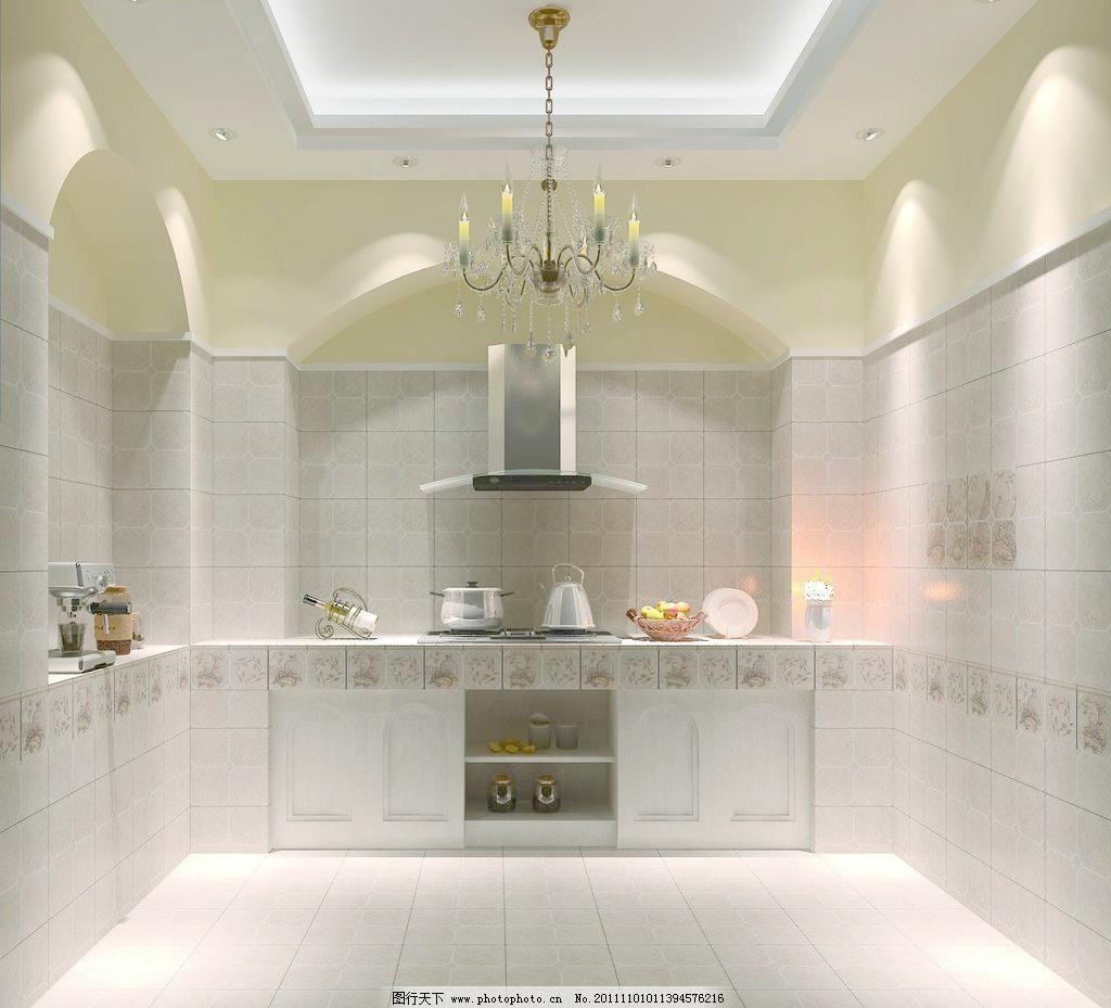 铺贴 地砖 墙砖 厨房瓷砖铺贴应用美图 瓷砖效果图 3d样板间 室内设计