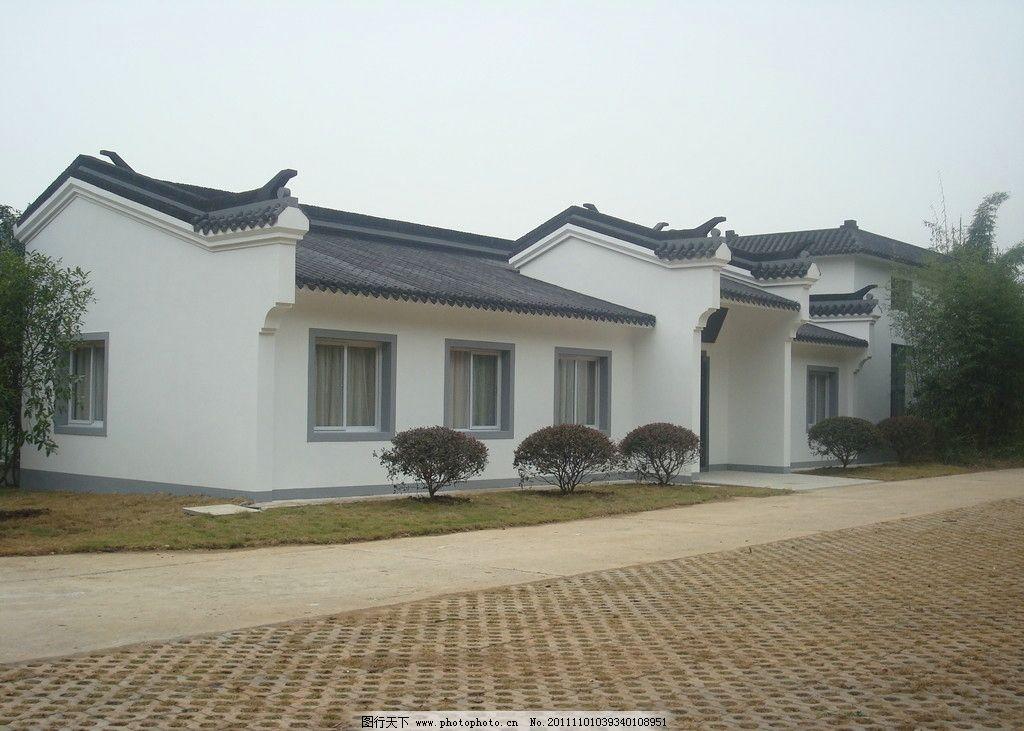 江南风格房子 公园 房屋 古典房子 江南风格建筑 园林 园林景观