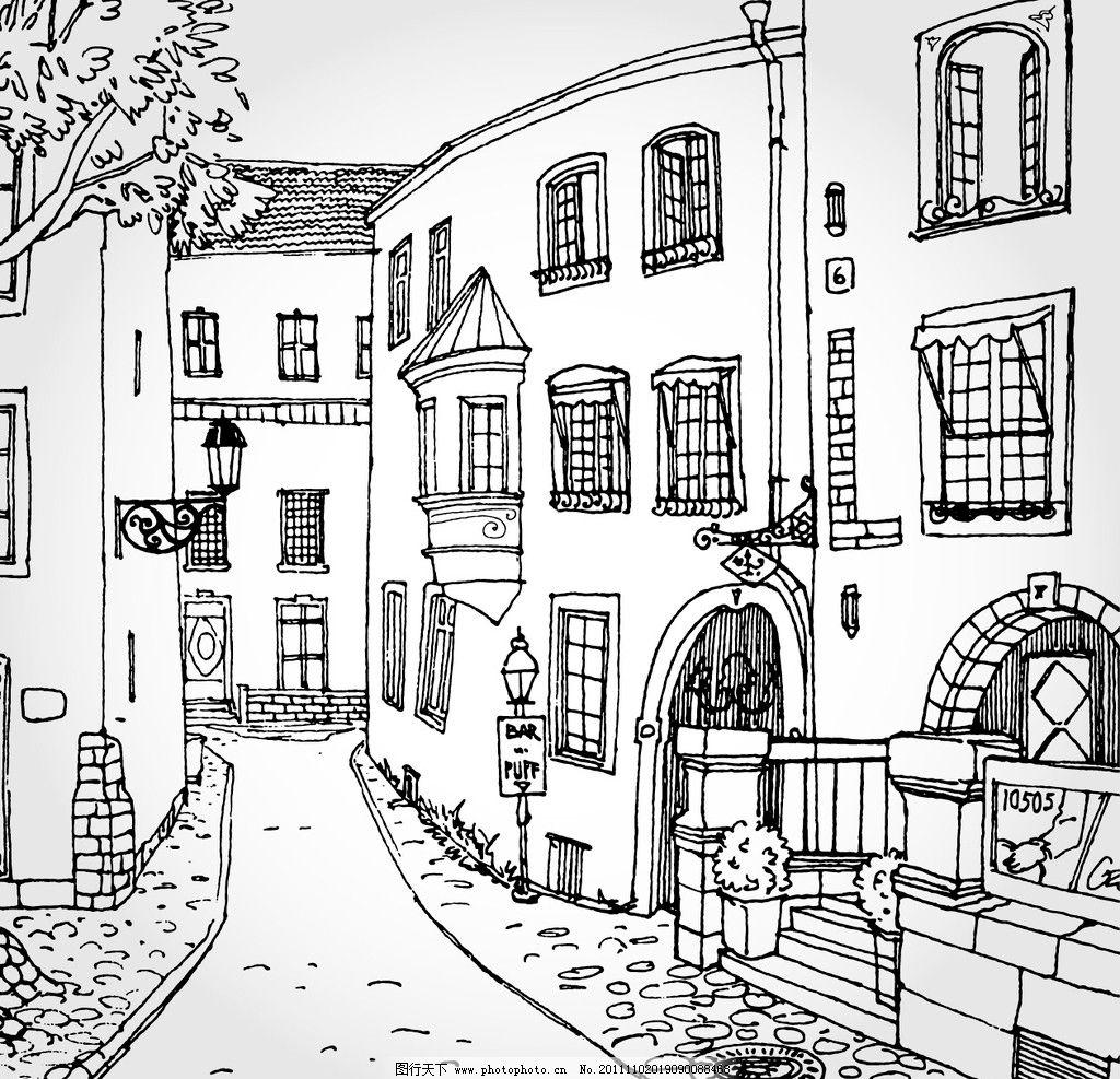手绘房子图片