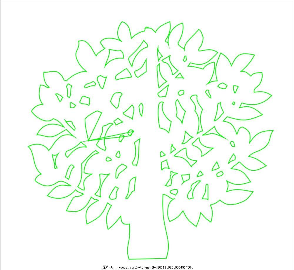 成长树 矢量树 海报