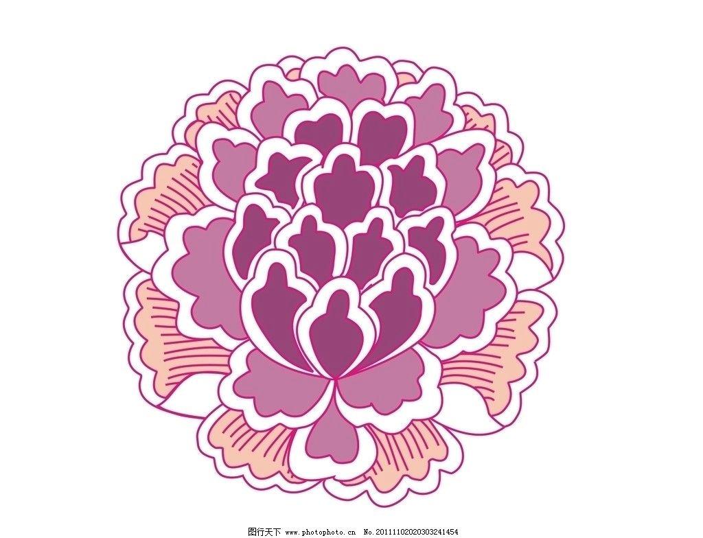 花团花球 花样 花球 底纹 鲜花 传统纹样 花瓣 花 花纹花边 底纹边框