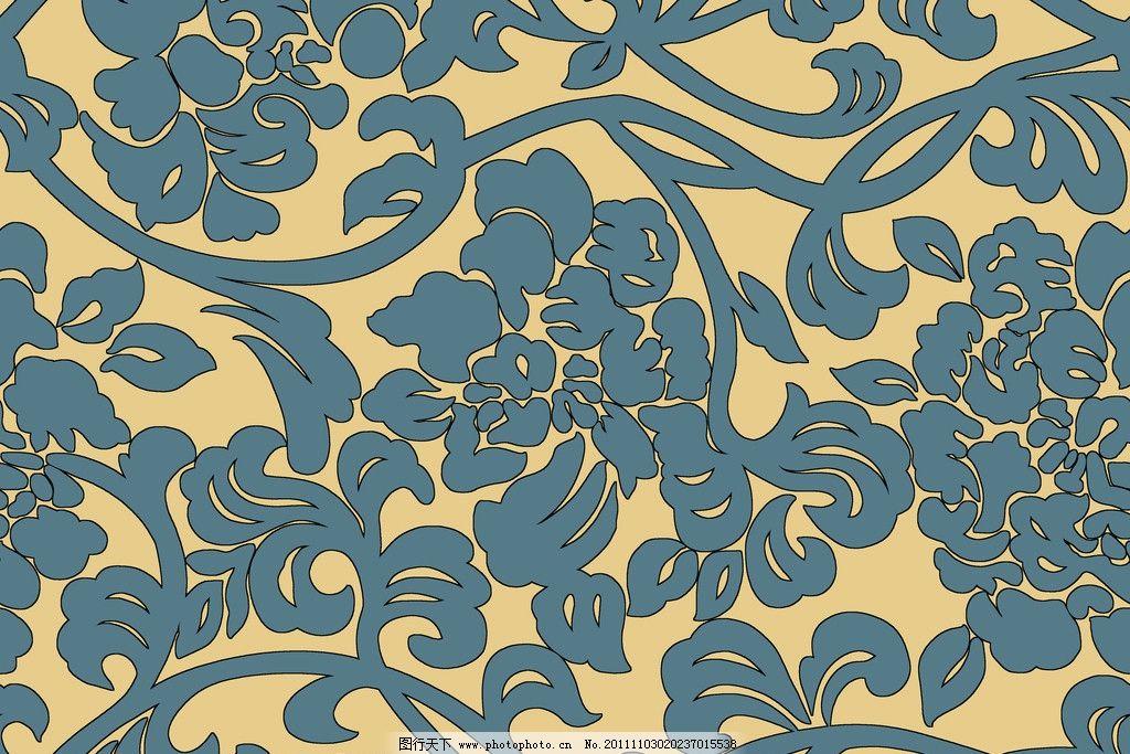 韩国沙发卷草花纹图片
