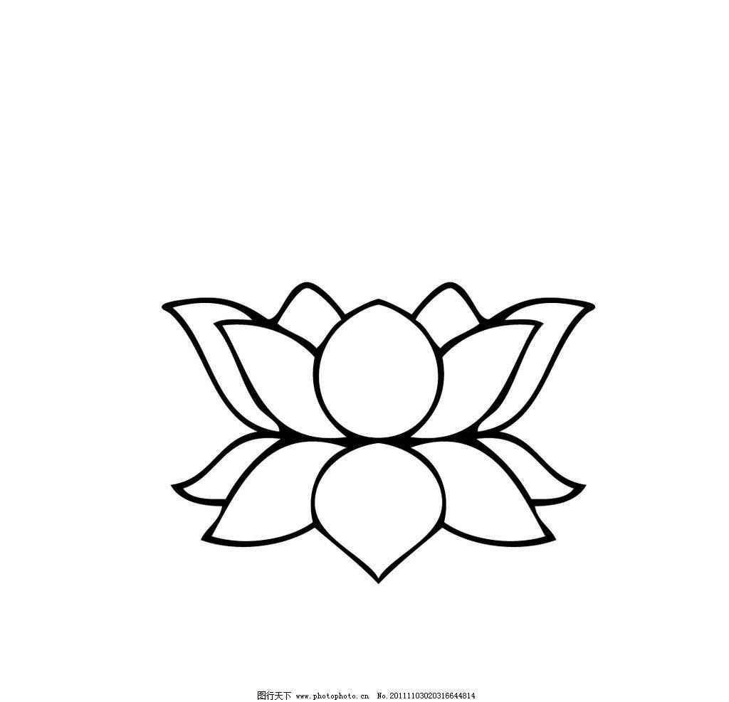 莲花 菩萨 图案 花纹花边 底纹边框 矢量 ai