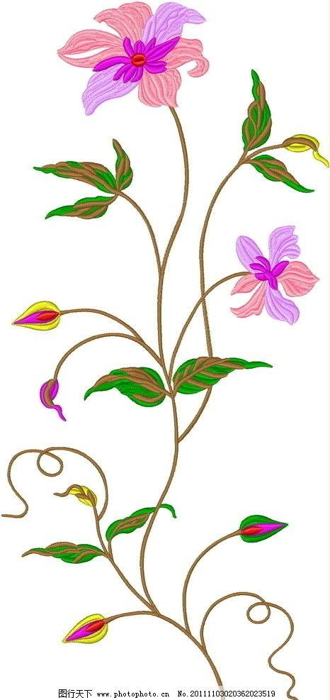 绣花 图案 面料花 名族风 纹样 时尚 花边花纹 底纹边框 设计 96dpi j