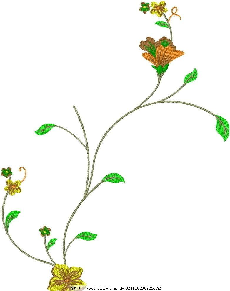 绣花 图案 面料花 名族风 纹样 时尚 花边花纹 底纹边框 设计 96dpi