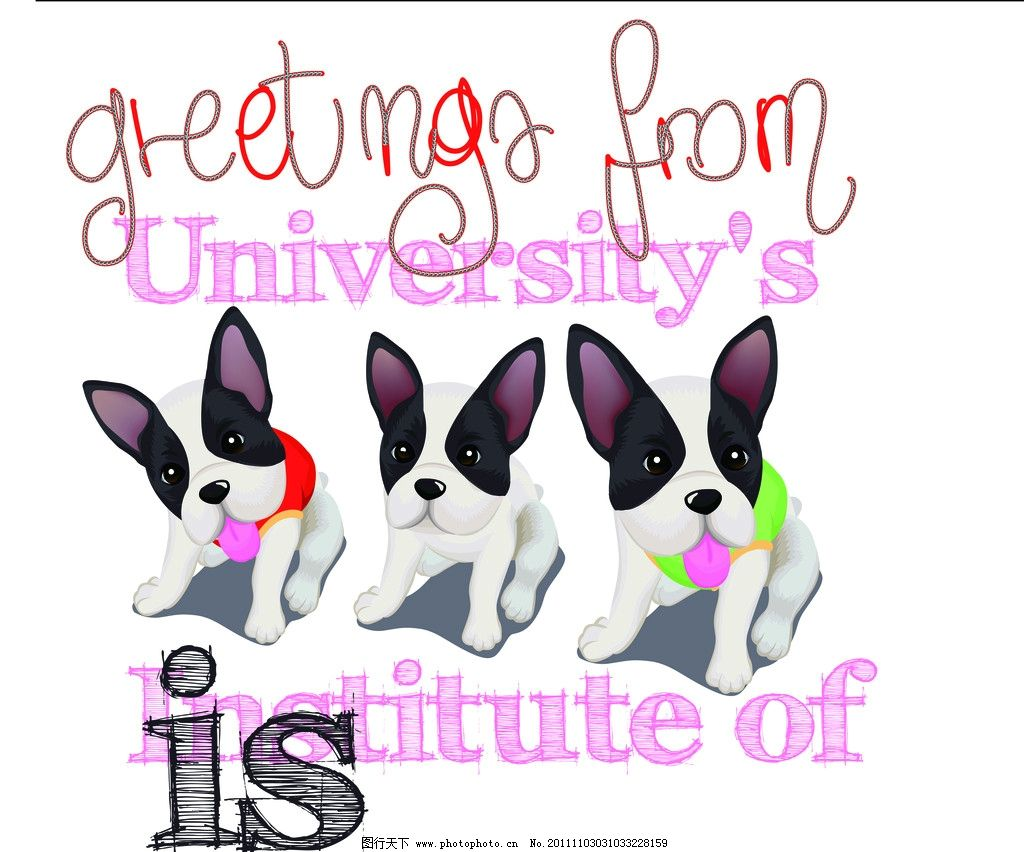 印花 绣花 服装设计 图案 英文字母 eps 烫钻 彩钻 贴布绣 可爱动物