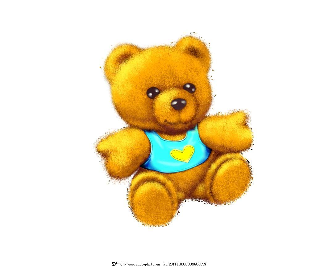 卡通熊 抱抱 psd分层素材 源文件 300dpi psd