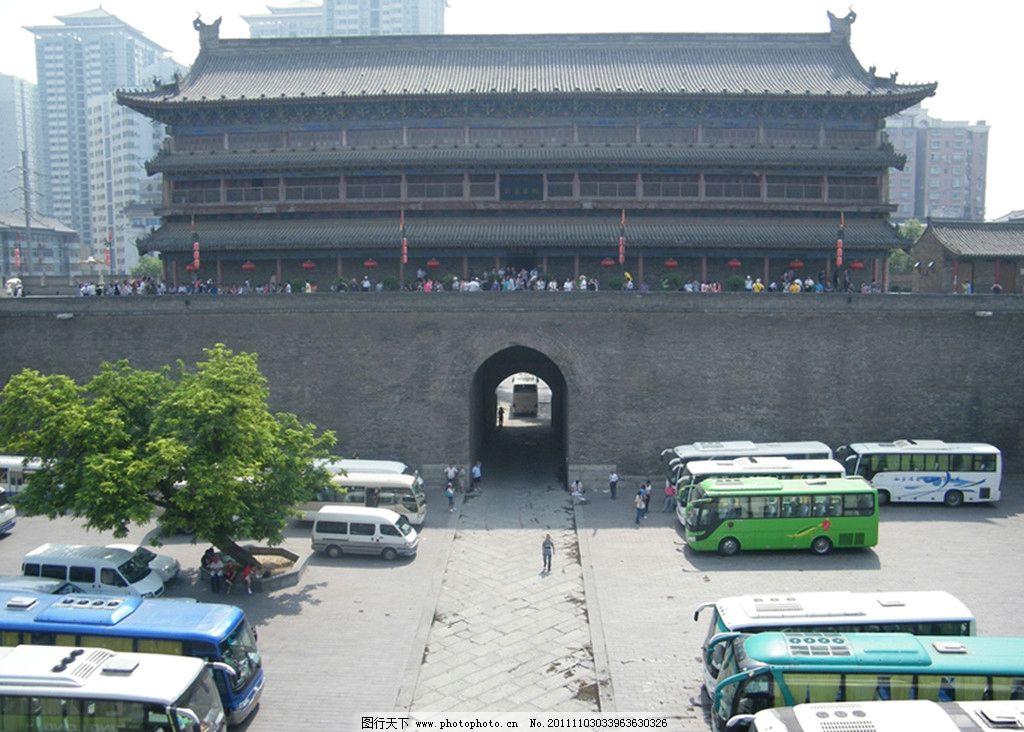 西安古城门图片