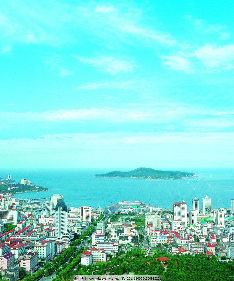 威海刘公岛远景图片